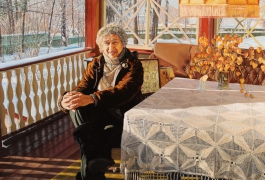 Portrait of Y.Entin on the terrace 2006